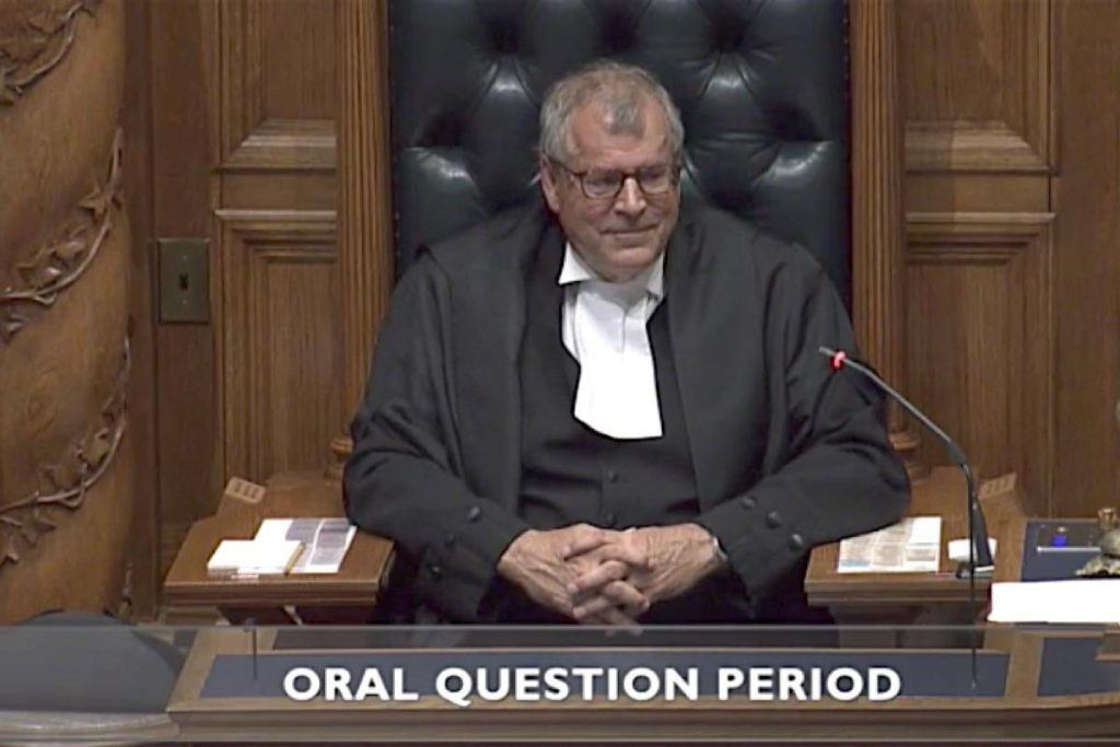 Speaker Steve Thomson has tricky procedural questions to consider during his first, and possibly only, week on the job. (Hansard TV)